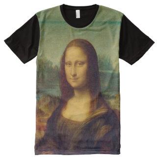 La Mona Lisa par Leonardo da Vinci T-shirt Tout Imprimé
