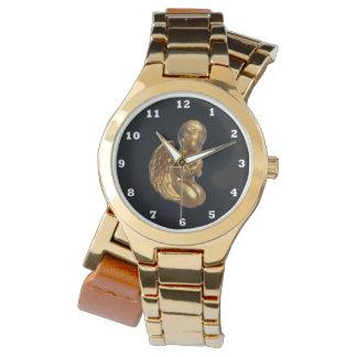 La montre enveloppante des femmes de prière d'ange montres cadran