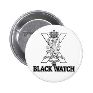 La montre noire pin's avec agrafe
