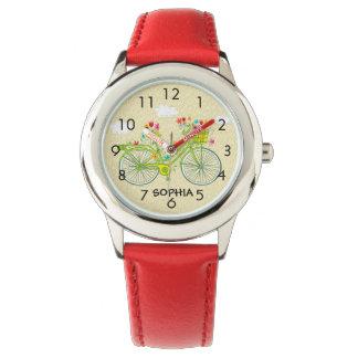 La montre vintage de l'enfant personnalisé mignon