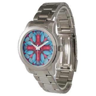 La montre vintage des hommes de kaléidoscope de