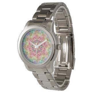 La montre vintage des hommes de motif hippie