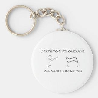 La mort au cyclohexane porte-clé rond