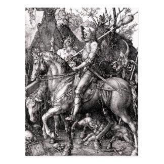 La mort de chevalier de Durer et la carte postale