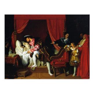 La mort de Jean Auguste Ingres- de Leonardo da Vin Carte Postale