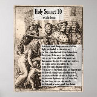 La mort de John Donne, ne soit pas sonnet Poster