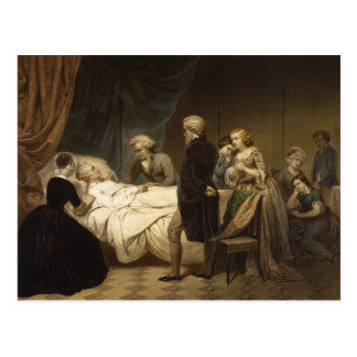 La mort de la carte postale de George Washington
