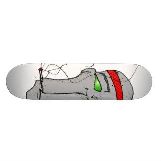 La mort de la plate-forme de planche à roulettes d plateaux de skate