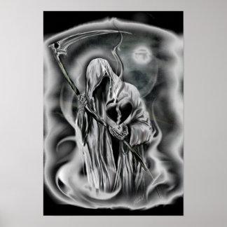 la mort de l'amour, coeur noir brisé, faucheuse posters