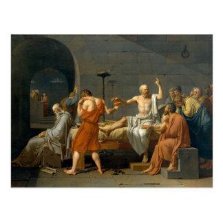 La mort de Socrates par Jacques-Louis David Carte Postale