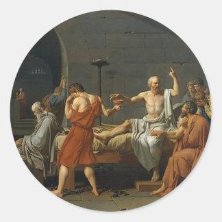La mort de Socrates Sticker Rond