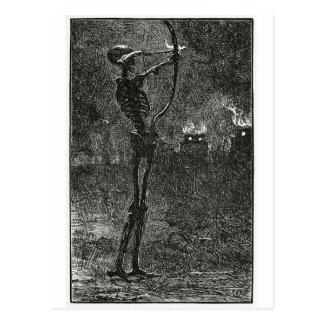 La mort s'occupant la carte postale de flèches