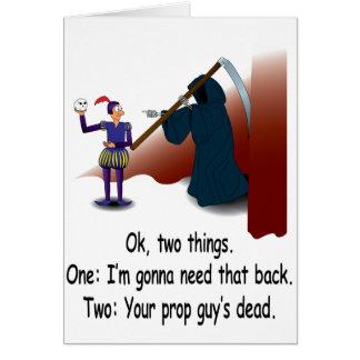 La mort sur l'étape carte de vœux