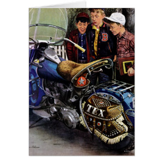 La moto de Tex Cartes De Vœux