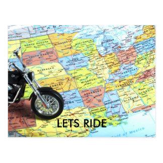 La moto sur la carte des Etats-Unis, LAISSE LE
