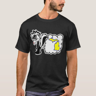 La mouffette déteste la chemise d'État du Michigan T-shirt