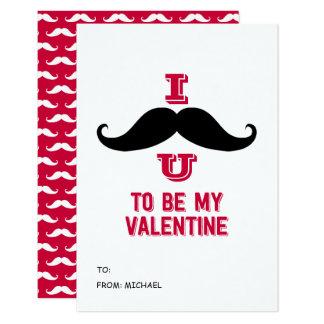 La moustache badine la carte de Valentine de salle