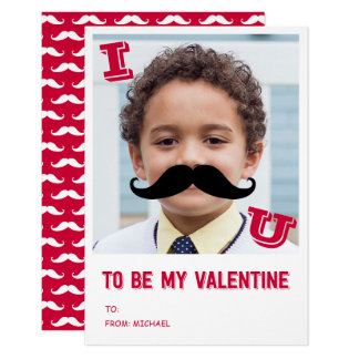 La moustache badine le carte photo de Valentine de