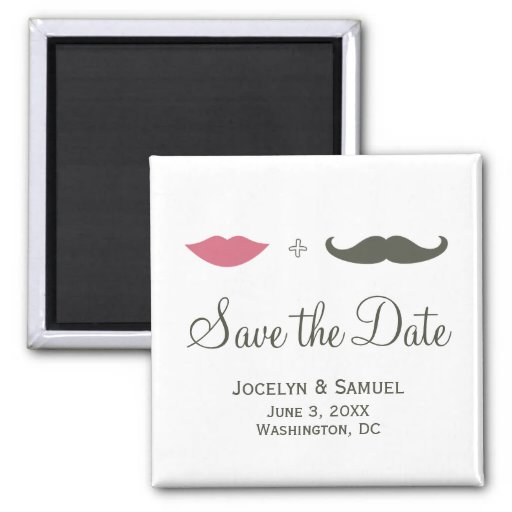 La moustache et les lèvres font gagner la date magnets