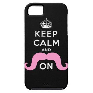 La moustache rose de hippie gardent le calme pour  coques iPhone 5 Case-Mate