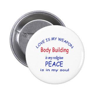 La musculation est ma religion badge rond 5 cm