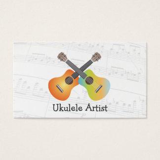 La musique d'artiste d'ukulélé note le carte de