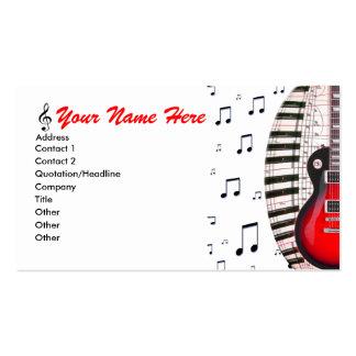 La musique de clavier de piano de guitare note le  cartes de visite professionnelles