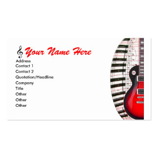 La musique de clavier de piano de guitare note le  carte de visite standard