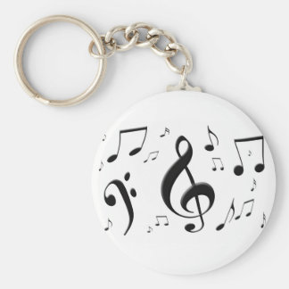 La musique de enflement note le porte - clé porte-clés