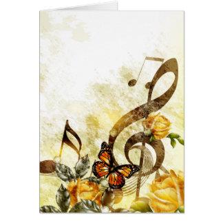 La musique de papillon note la carte de note