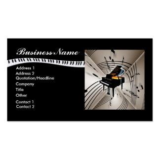 La musique de piano note le carte de visite
