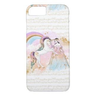 La musique de princesse Rainbow de licorne tient Coque iPhone 7