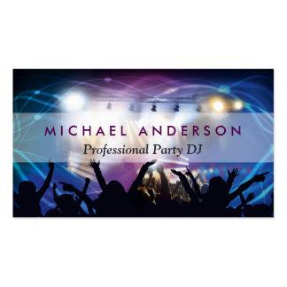La musique DJ Party le planificateur de concert - Carte De Visite Standard