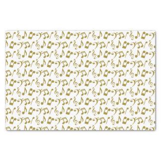 La musique d'or note le papier de soie de soie