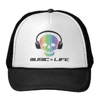 la musique égale des produits de la vie casquettes