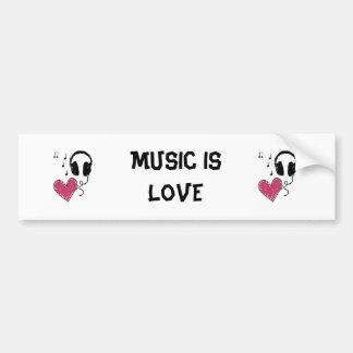 La musique est amour autocollants pour voiture