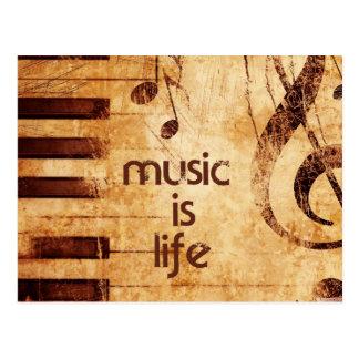 La musique est la vie cartes postales