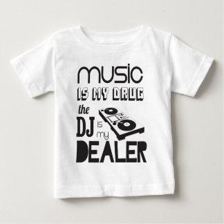 La musique est ma drogue. Le DJ est le revendeur T-shirt Pour Bébé