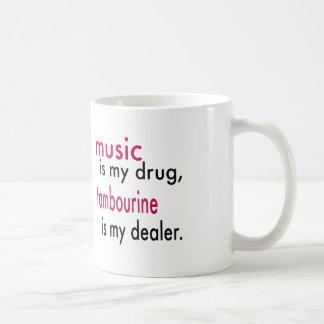 La musique est ma drogue tambour de basque est tasse