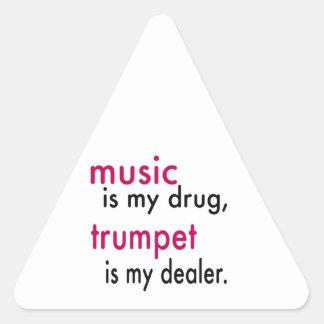 La musique est ma drogue trompette est mon autocollants
