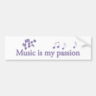 La musique est ma passion adhésif pour voiture