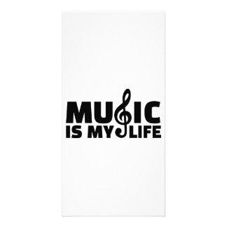 La musique est ma vie cartes de vœux avec photo