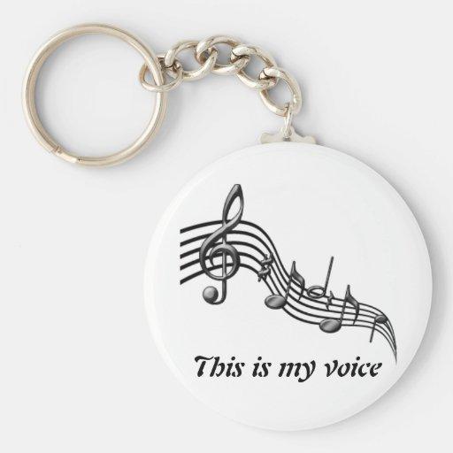 la musique est ma voix porte-clé
