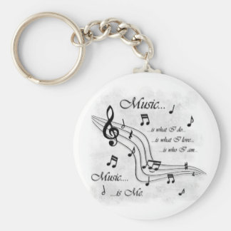 La musique est moi porte-clé rond