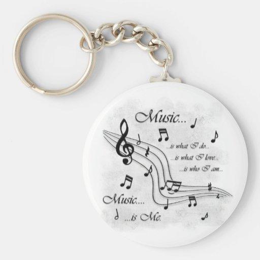 La musique est moi porte-clefs