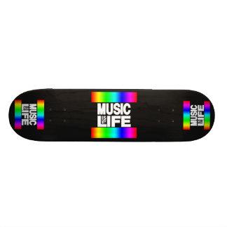 La musique est mon arc-en-ciel de la vie planches à roulettes customisées