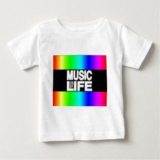 La musique est mon arc-en-ciel de la vie t-shirt pour bébé