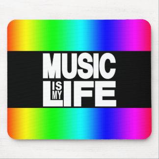 La musique est mon arc-en-ciel de la vie tapis de souris