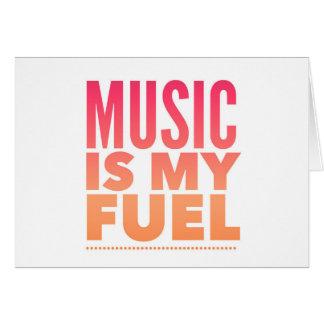 La musique est mon carburant cartes de vœux