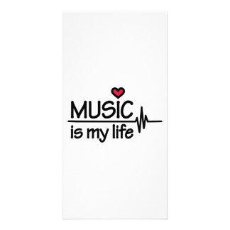 La musique est mon coeur de la vie photocartes personnalisées